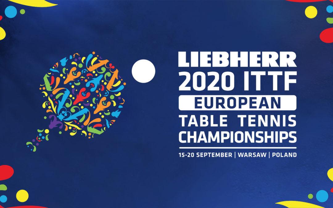Przełożone Mistrzostwa Europy w Tenisie Stołowym