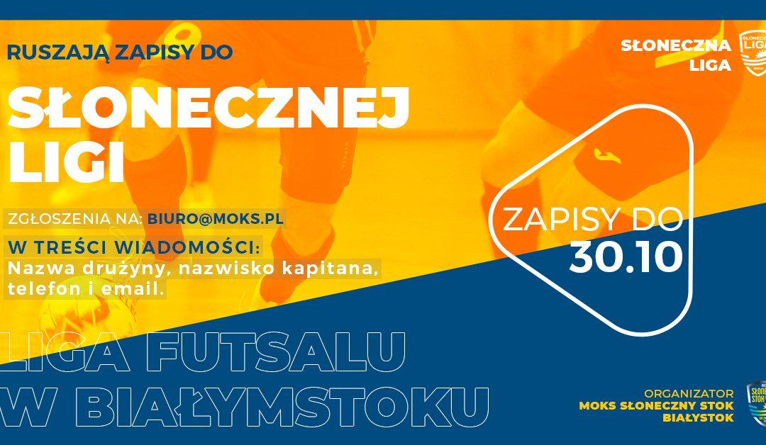 """Startuje """"Słoneczna Liga"""", zapisy do 30 października."""